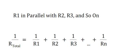 resistors connected in parallel equation physics page www thebombdotcom
