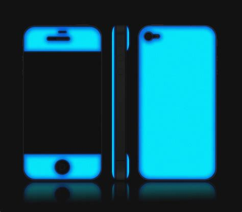 Hardcase Iphone Samsung Casing Iphone Samsung Glow In The iphone 4 4s teal glow in the skins covers wraps and cases adaptation