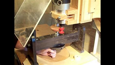 Making a simple wood bracelet with router milling machine lathe attachment   YouTube