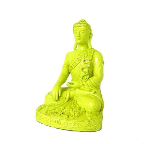 lime green home decor buddha statue neon lime green home decor buddhist