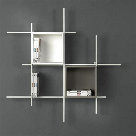 libreria a muro moderna libreria libra comp 31 sospesa a muro in acciaio design