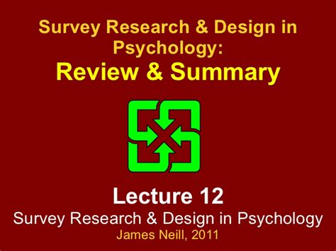experiment design review review of quot survey research methods design in psychology quot