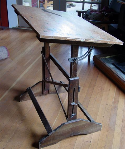 vintage drafting table metal the clayton design