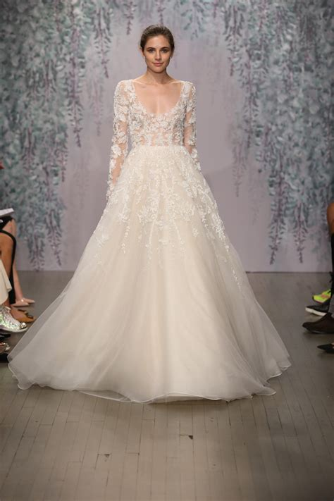 top 10 wedding blogs best of bridal fashion week lhuillier wedding dress collection