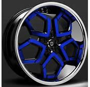 Lexani Hydra Black And Blue Custom Wheels