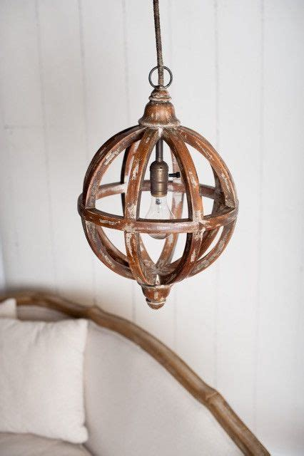 wood orb pendant light 29 best images about products on shabby chic