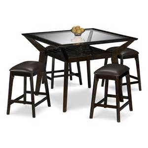 Stool Table Mystic Counter Height Table And 4 Backless Stools Merlot