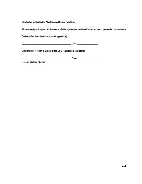Website Design Contract Template Free Download Web Design Contract Template