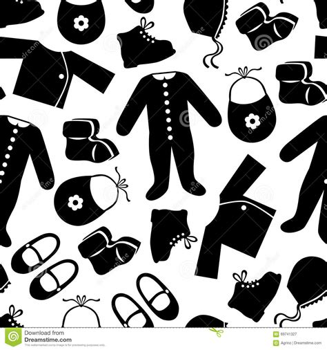 clothes pattern vector baby clothes pattern seamless stock vector image 69741327