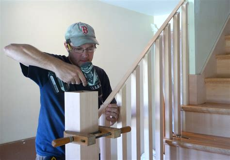 How To Attach Banister To Wall by Building A Housed Newel Thisiscarpentry