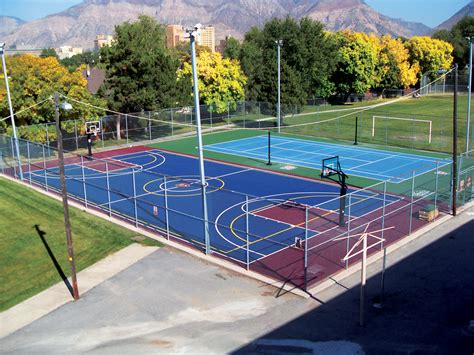 sports courts for backyards playground for your sport court backyard court
