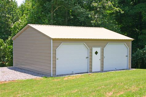 Two Car Garage With Carport by Metal Garage Two Car 2