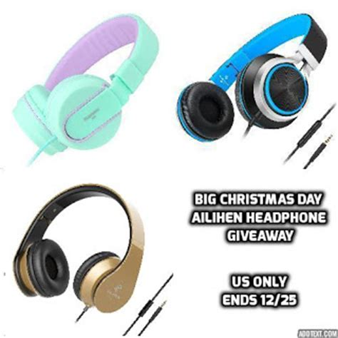 Headphone Giveaway - java john z s big christmas day ailihen headphone giveaway