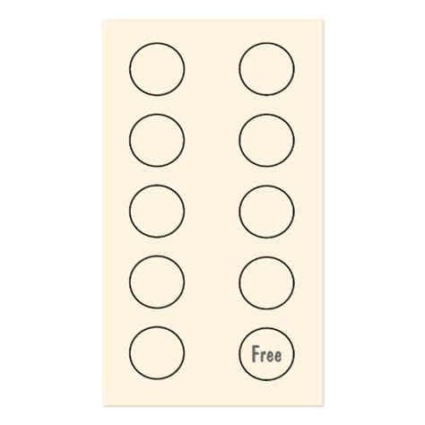 Loyalty Punch Card Template Free by Loyalty Business Card Punch Card Business Card Templates