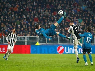 ronaldo juventus goal chions league cristiano ronaldo s extraordinary goal crushes juventus fans urge real