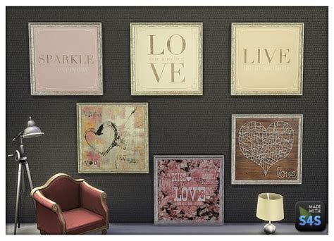 sims 4 cc home decor lintharas sims 4 paintings for your shop and home sims