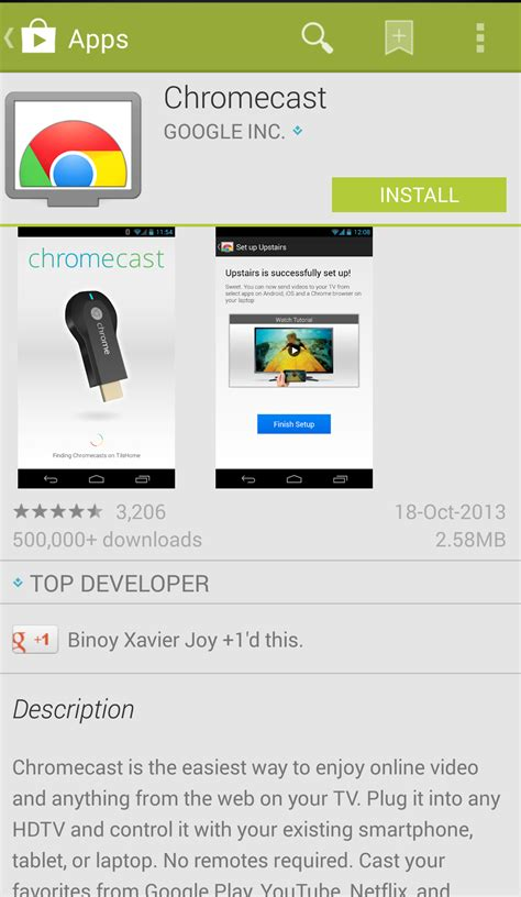 chromecast app for android chromecast app is now available internationally on the play store