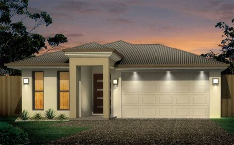 narrow 3 bedroom house floor plan townsville builder