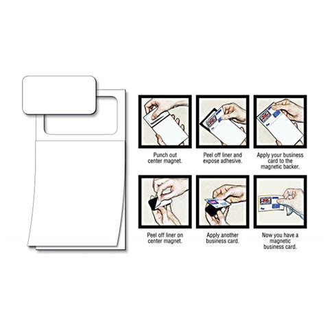 Peel And Stick Business Card Notepads peel n stick business card blank magnetic notepads