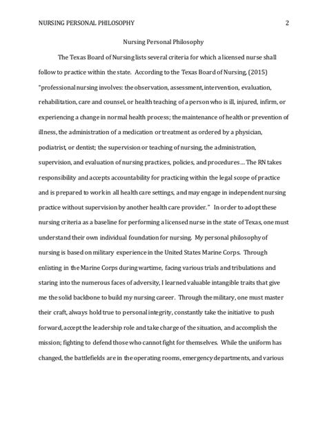 how to write a nursing philosophy paper personal nursing philosophy paper