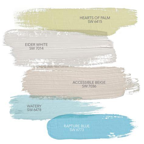 coordinate decor colors between rooms