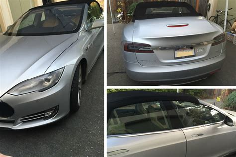 Tesla Model S Convertible Price World S Convertible Tesla Model S Is For Sale