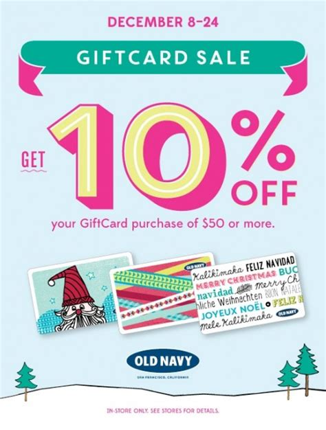 Old Navy Gift Card Canada - old navy canada offers 10 off gift card purchases of 50 or more canadian freebies