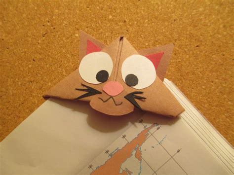 Origami Cat Bookmark - 66 best images about handmade origami bookmarks on