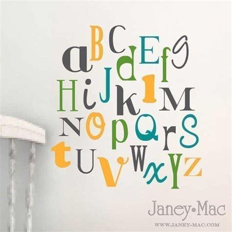 alphabet wall sticker alphabet vinyl wall decal nursery bedroom by poppethollowshop