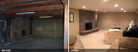 Finished Basement Before And After   Home Improvement