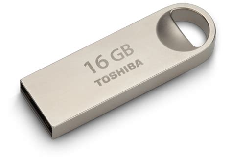 Toshiba Metal Usb Flashdisk 16gb toshiba transmemory u401 metal usb 2 0 flash drive 16gb silver usb 2 0 drives and