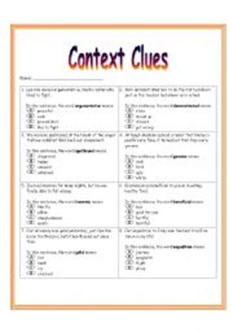 Context Clues Worksheets 6th Grade by 6th Grade Vocabulary In Context Worksheets Englishlinx