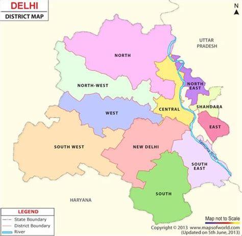 political map of delhi districts in delhi district administration functions delhi