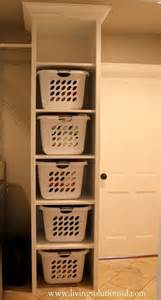 Hers For Laundry Perfection Floor To Ceiling Laundry Basket Stackable Narrow Enough To Still Room For A
