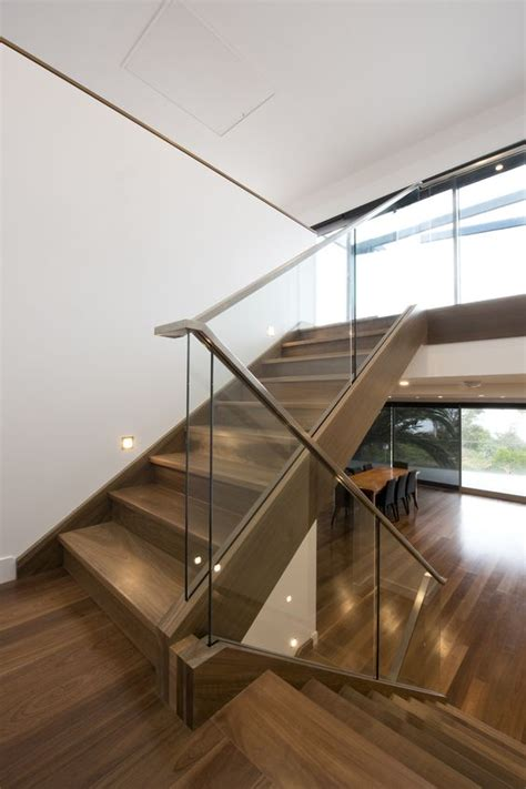 glass banister staircase 30 stylish staircase handrail ideas to get inspired digsdigs