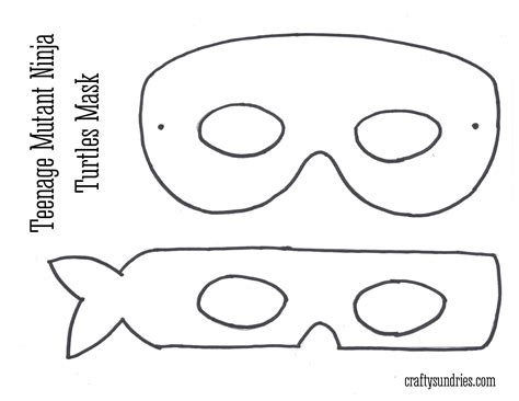 ninja turtle mask coloring page face pages grig3 org