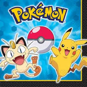 pokemon amp friends lunch napkins this party started