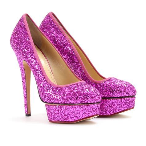 Olympia Platfrom High Heels lyst olympia priscilla glitter platform pumps in purple