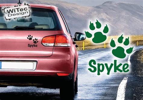 Sticker Mit Namen Bestellen by Autoaufkleber Pfote Hund Name Auto Aufkleber Sticker