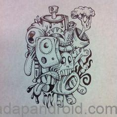 kumpulan gambar dp bbm grafiti monster sketch keren