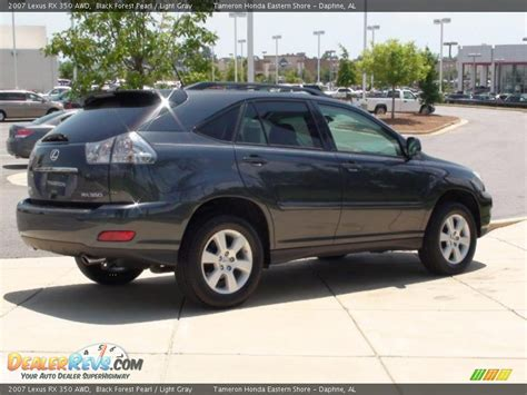 light gray lexus 2007 lexus rx 350 awd black forest pearl light gray