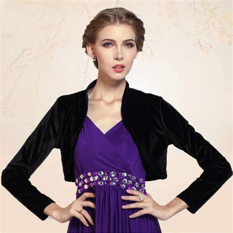 Blazer Cardigan Outer Katun Blouse Formal Casual cropped velvet sleeve shrug womens bolero jacket cardigan outwear top plus sizes
