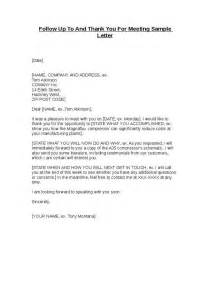 Follow up letter after meeting http sampleletter dyndns org how to