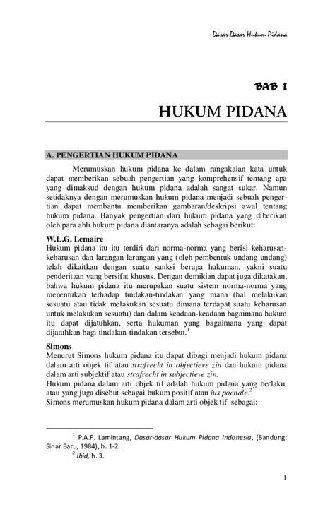 Kriminalisasi Dlm Hukum Pidana dasar dasar hukum pidana bab 1