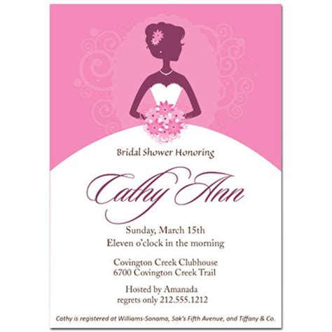 bridal shower card template bridal shower invitations bridal shower invitations