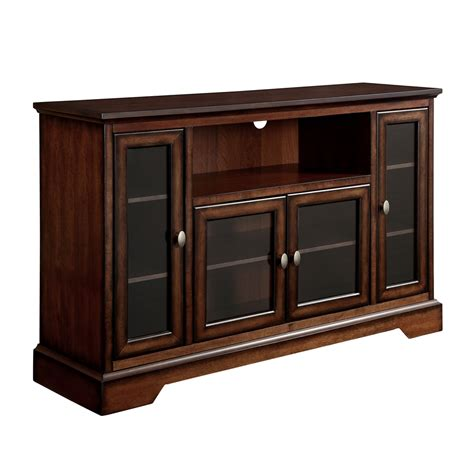 light wood tv stands walmart 52 quot brown wood highboy tv stand