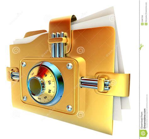 golden lock stock image image 12671151 folder with golden combination lock stock image