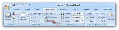 page layout excel 2010 how to disable page setup in excel 2007 how to change