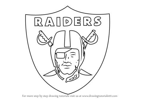 learn   draw oakland raiders logo nfl step  step