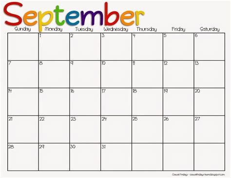 Blank Calendar For September 2015 7 Best Images Of Printable 2015 Monthly Calendar